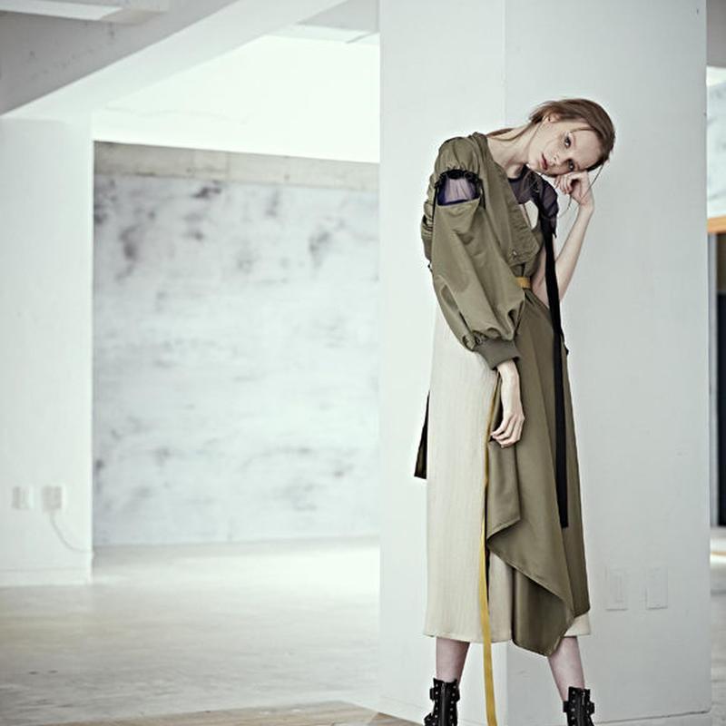 SHIROMA 19S/S wrap ma-1 coat