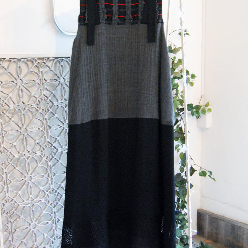 SHIROMA 17-18A/W Female punks Jacquard long dress