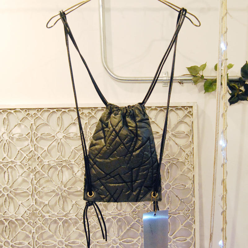 SHIROMA 16-17A/W DARK AGES embroidery quilting nylon knappsack -S-