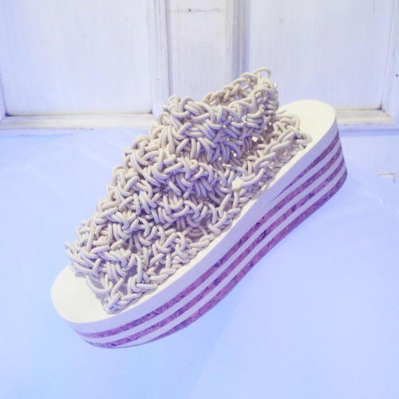 ARIELLE DE PINTO / LVMM stripey sock -white-