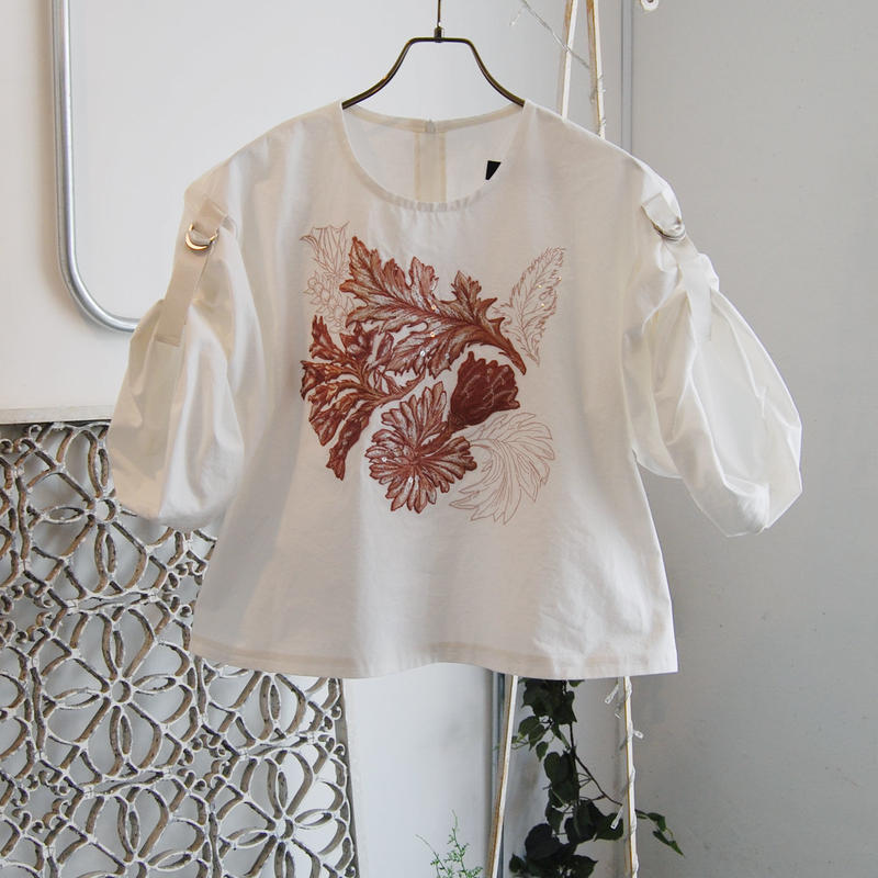 SHIROMA 19-20A/W embroidery blouse