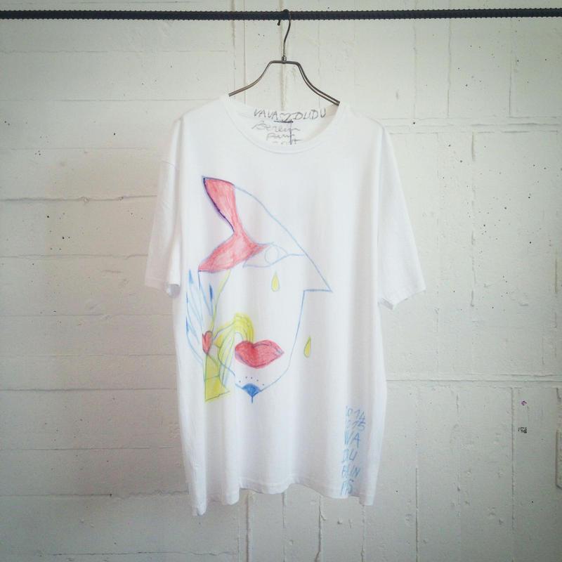 VAVADUDU hand drawing autograph T-shirt 【1】