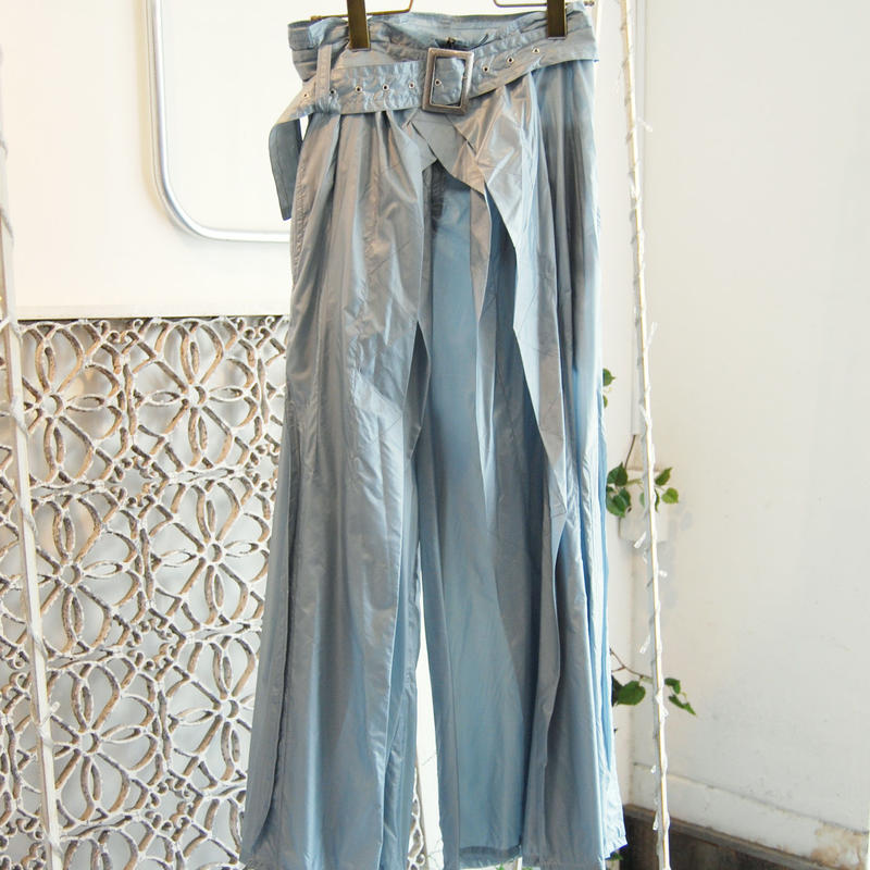 SHIROMA 19-20A/W high waist nylon tack pants