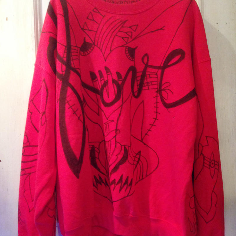 VAVADUDU hand drawing sweat shirt 【4】