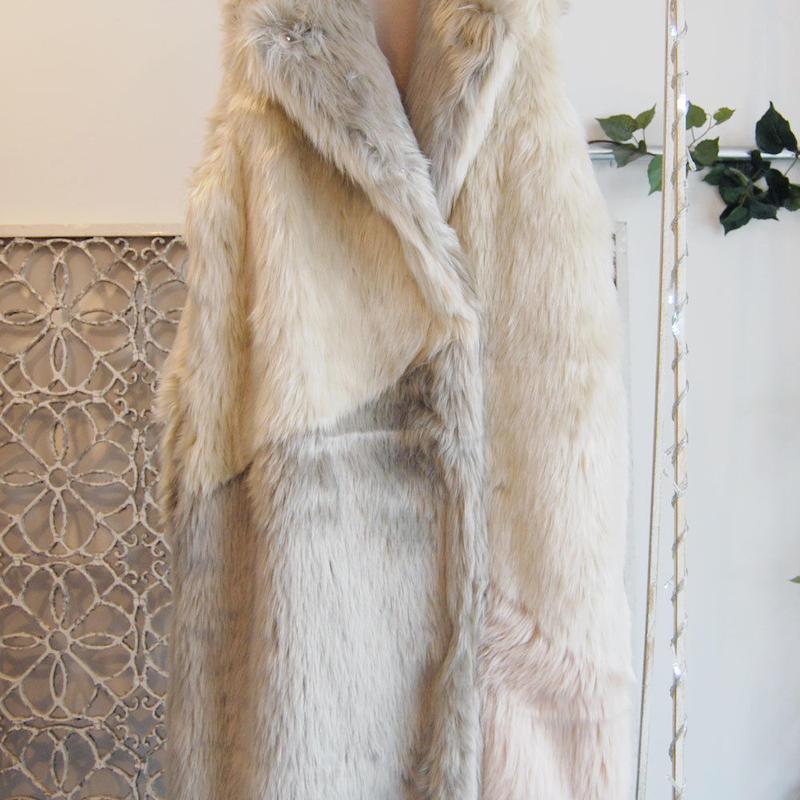 SHIROMA 16-17A/W DARK AGES fur vest -beige-