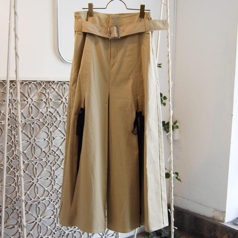 SHIROMA 19S/S high waist slit pants