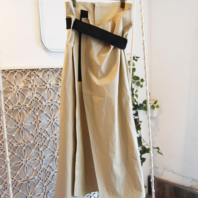 SHIROMA 19-20A/W velcro trench skirt