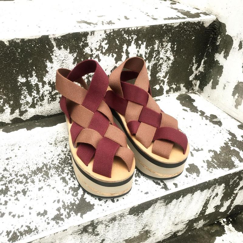 【GUSUCUMA limited】ARIELLE DE PINTO / LVMM woven tape -wine×brown-