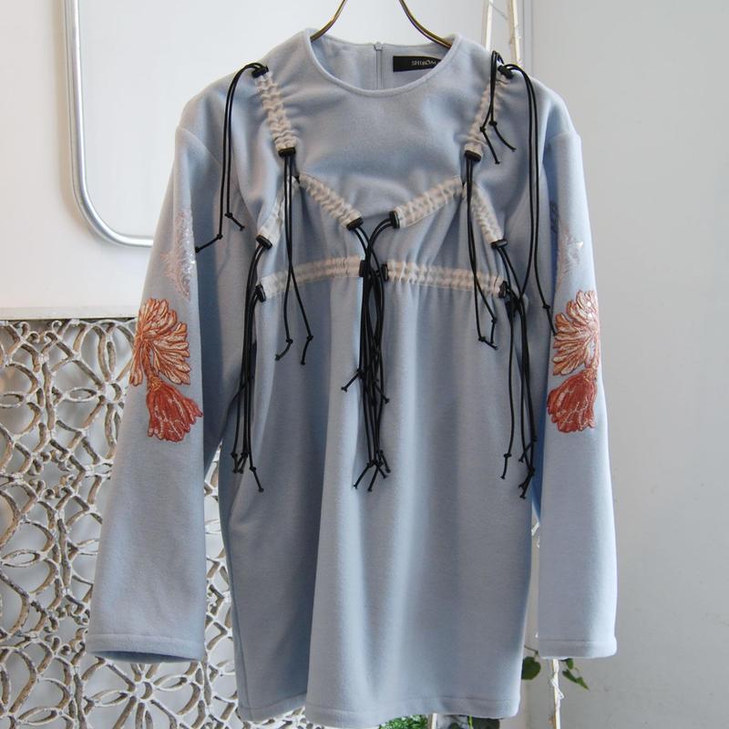 SHIROMA 19-20A/W embroidery silk fleece top