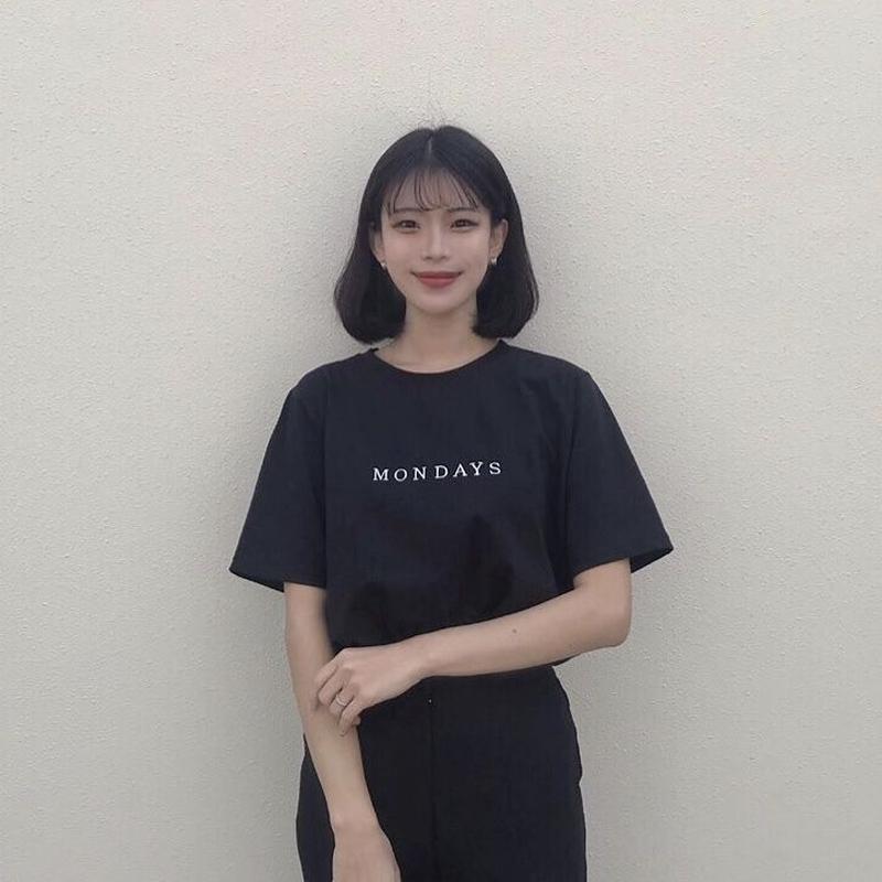 MONDAYS cotton T-shirt