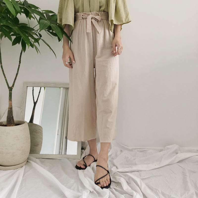 《予約販売》cropped ribbon pants