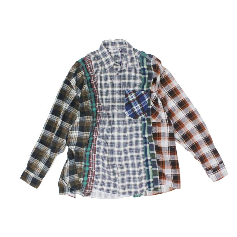 Rebuild by Needles 7 CUT Flannel Shirt WIDE - GRYCHK onesize