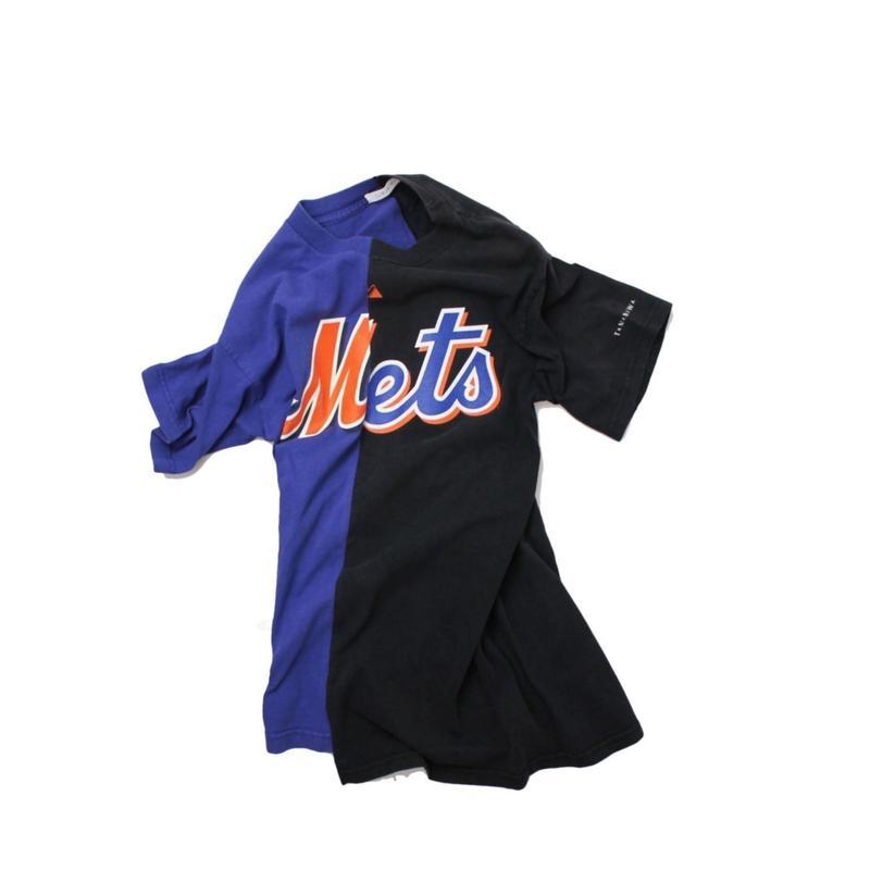 TAMANIWA  MLB REMAKE HALF TEE - NYM×NYM ①