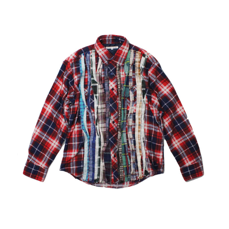 Rebuild by Needles Ribbon Flannel Shirt  RED ①  - M size