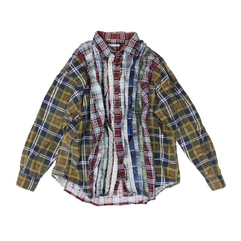 Rebuild by Needles Ribbon Flannel Shirt wide - onesize ⑨
