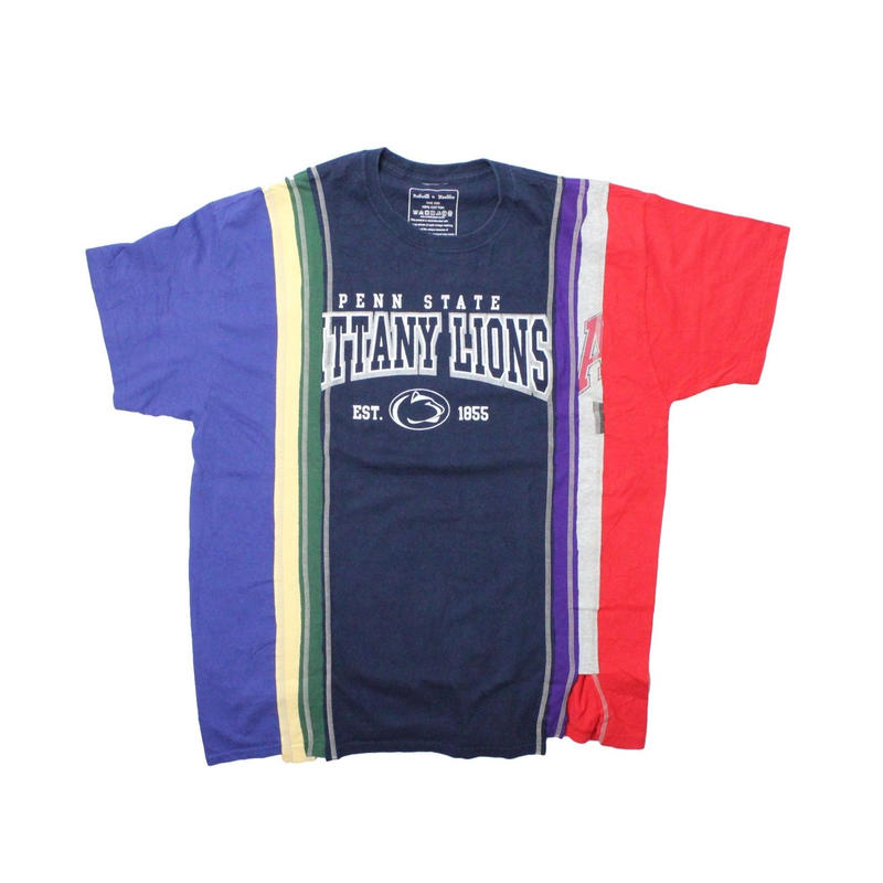 Rebuild by Needles 7 Cut Tee College Wide NAVY ① - onesize