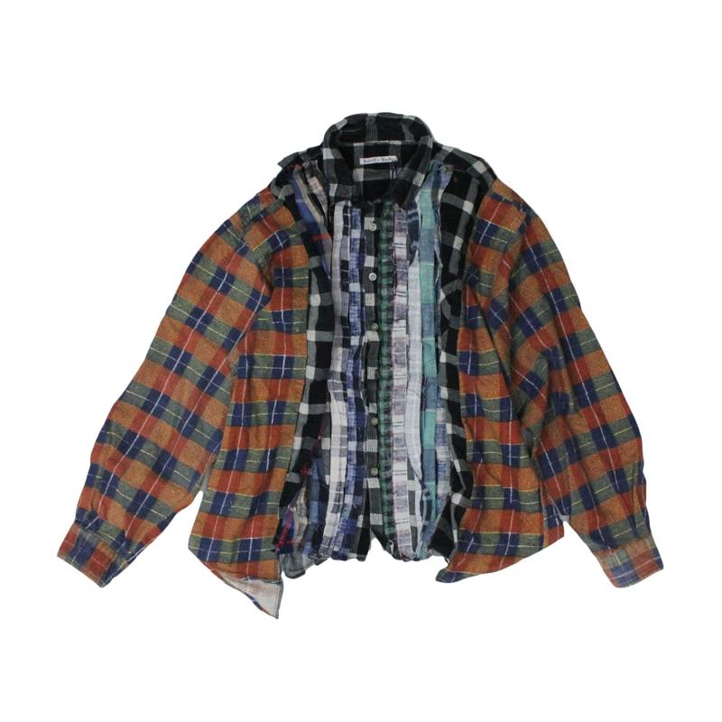 Rebuild by Needles Ribbon Flannel Shirt wide - onesize  ①
