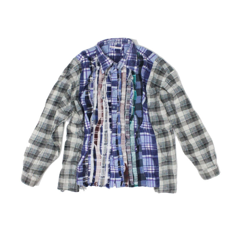 Rebuild by Needles Ribbon Flannel Shirt wide - onesize ⑤