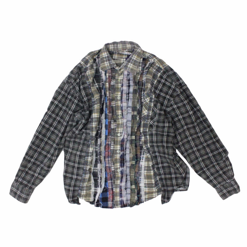Rebuild by Needles Ribbon Flannel Shirt wide - onesize 12