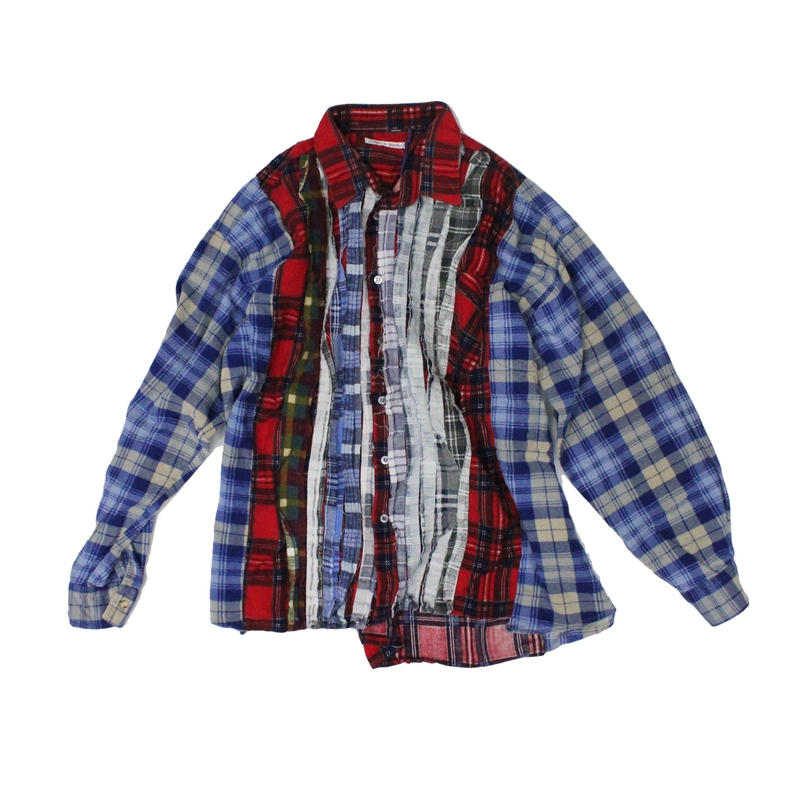 Rebuild by Needles Ribbon Flannel Shirt wide - onesize ⑧
