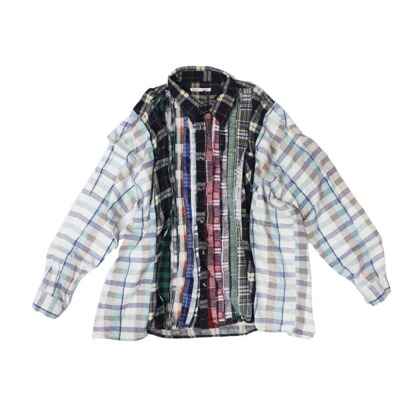 Rebuild by Needles Ribbon Flannel Shirt wide - onesize 11