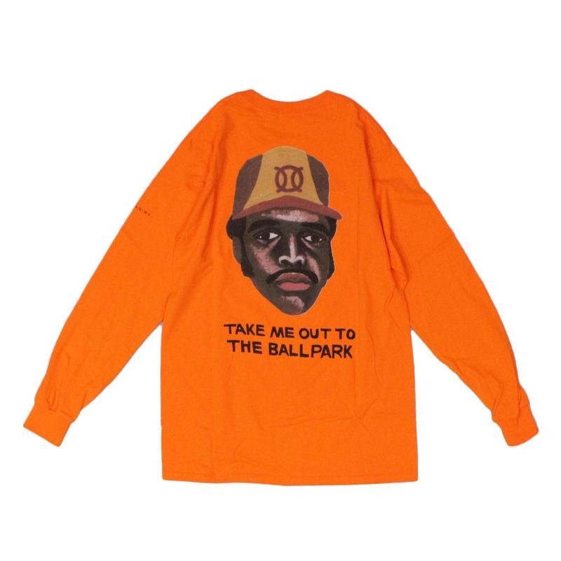 ball park  long sleeve tee - back print logo (TONY)