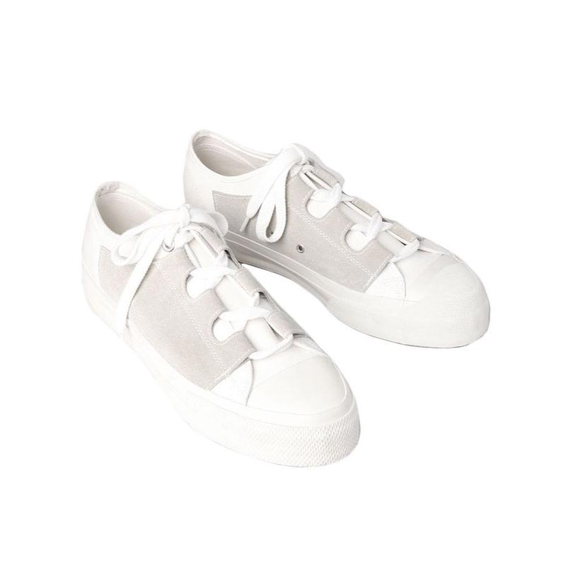 NEEDLES - Asymmetric Ghillie  Sneaker- white