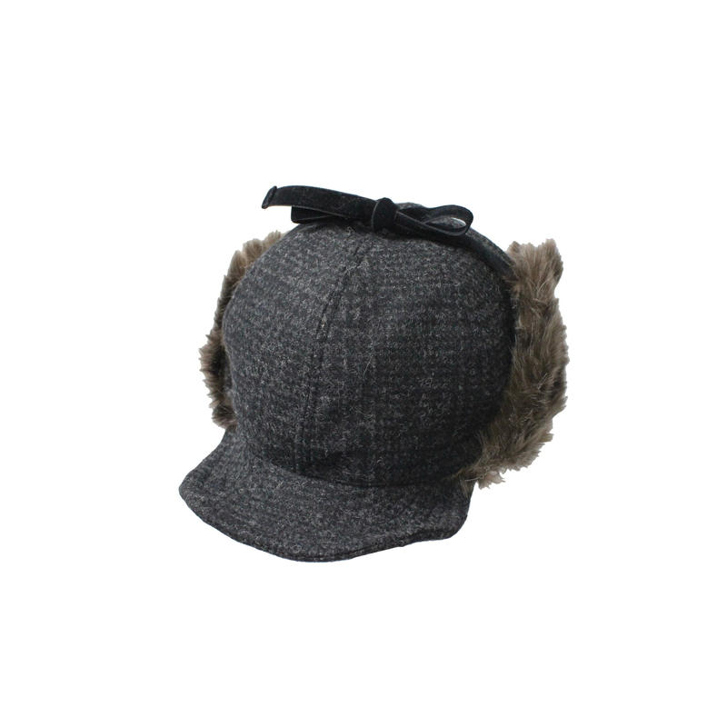 INFIELDER DESIGN     CHECK PETER CAP - BLACK