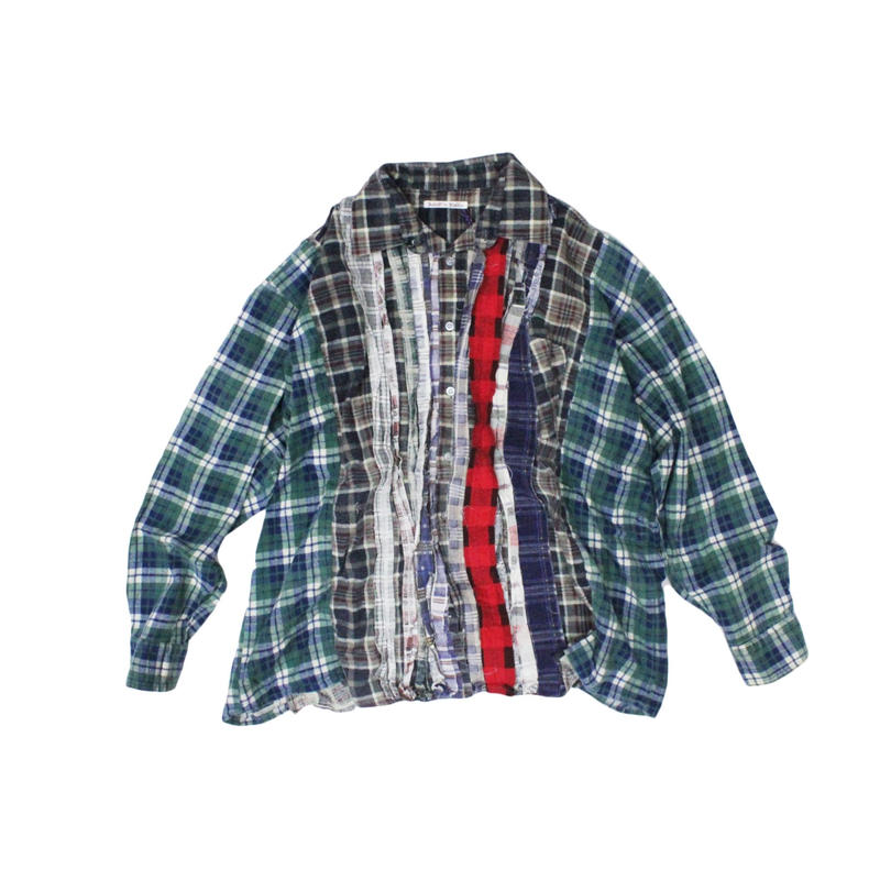 Rebuild by Needles Ribbon Flannel Shirt wide - onesize  ②