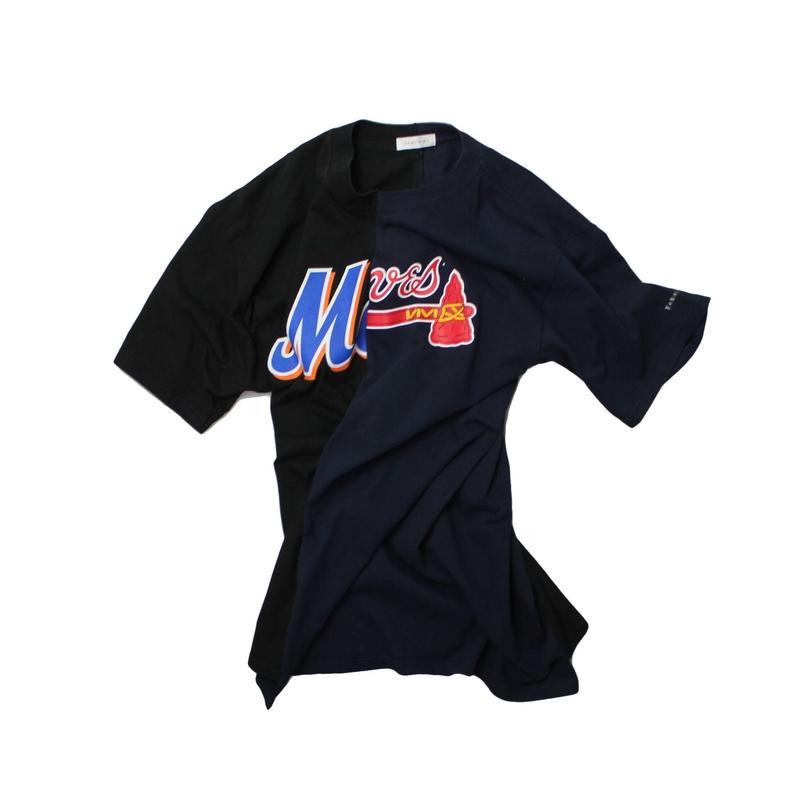 TAMANIWA  MLB REMAKE HALF TEE - NYM×ATL ②