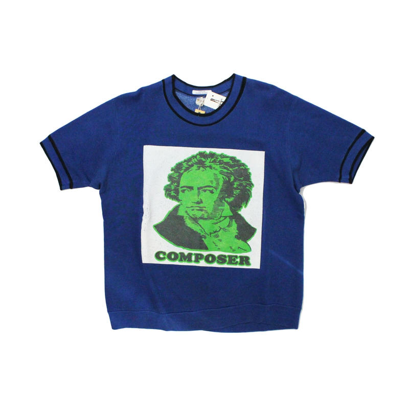 COPY CAT   -  OLD SHORT SLEEVE SWAET COMPOSER BLUE - size ASORT