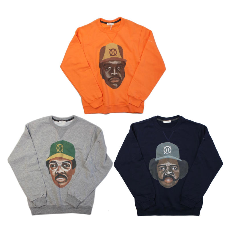 ball park  sweat FRONT -ORANGE-  (TAMANIWA ×SHUNTARO TAKEUCHI)