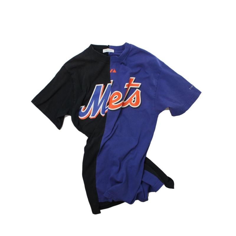 TAMANIWA  MLB REMAKE HALF TEE - NYM×NYM ②