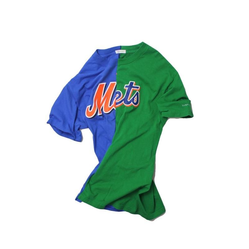 TAMANIWA  MLB REMAKE HALF TEE - NYM×NYM ④