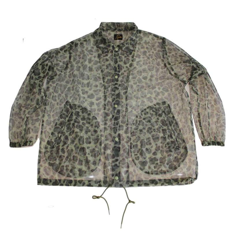 Needles Coach Jacket -Mesh Leopard  - size M -