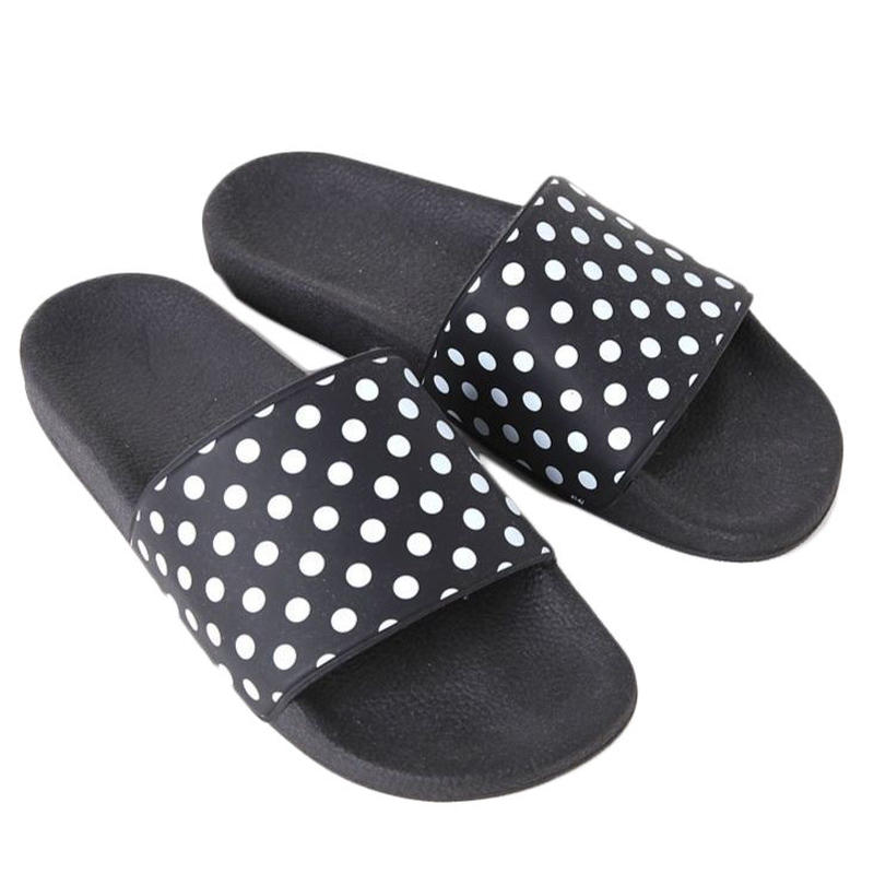 NEEDLES -  POLKA DOT SLIDE SANDAL - BLACK
