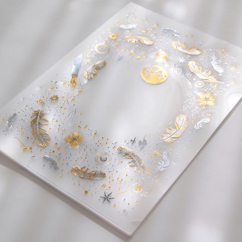 【 3刷目 】 『 白夜飛行 』 2色箔押しクリアファイル( clear plastic file folder )