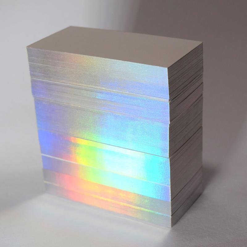 サンプル5 紙断面ホログラム箔カード