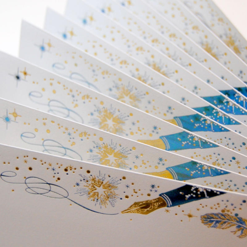 【 7刷目 】【 コスモテックブログ開設 12周年記念 製品 】 ― 箔封筒 『 白夜飛行 』 - 極光 -