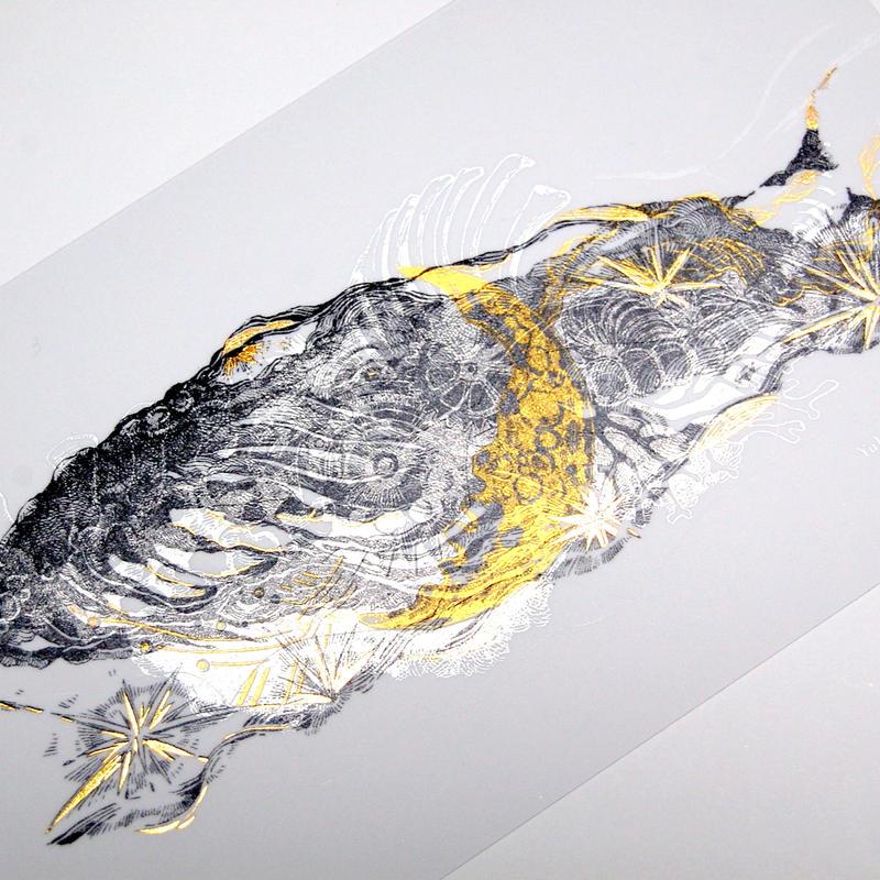 『 星唄うクジラ 』 ポストカード ステッカー - Yuko Tsuji Artwork 第2弾 -