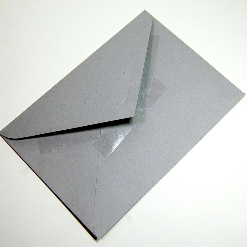 『 セロハンテープ風 』 透明箔押し封筒