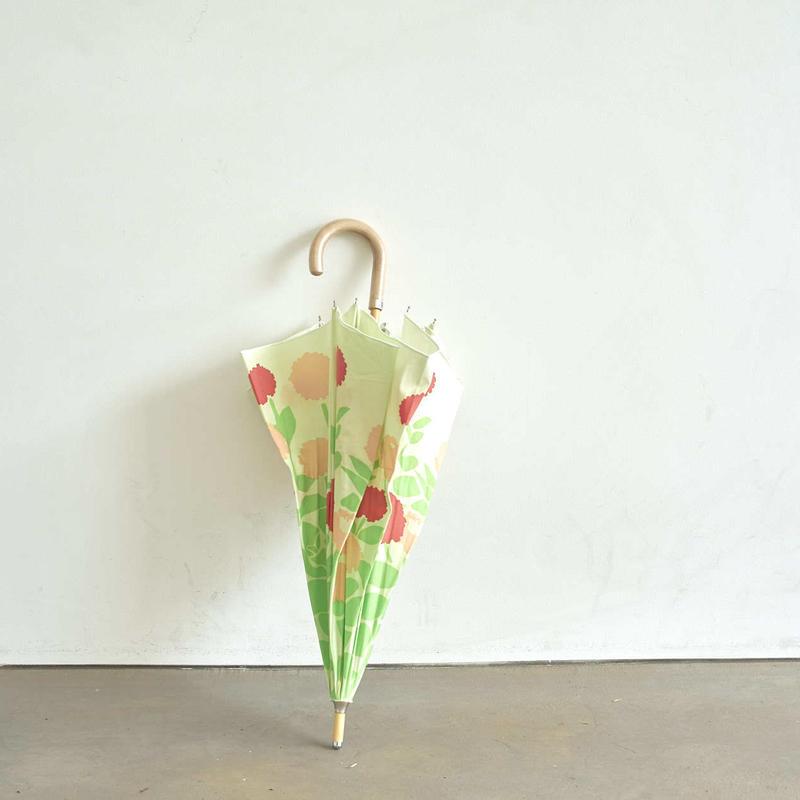 FLOWERS 晴雨兼用長傘|Zinnia green