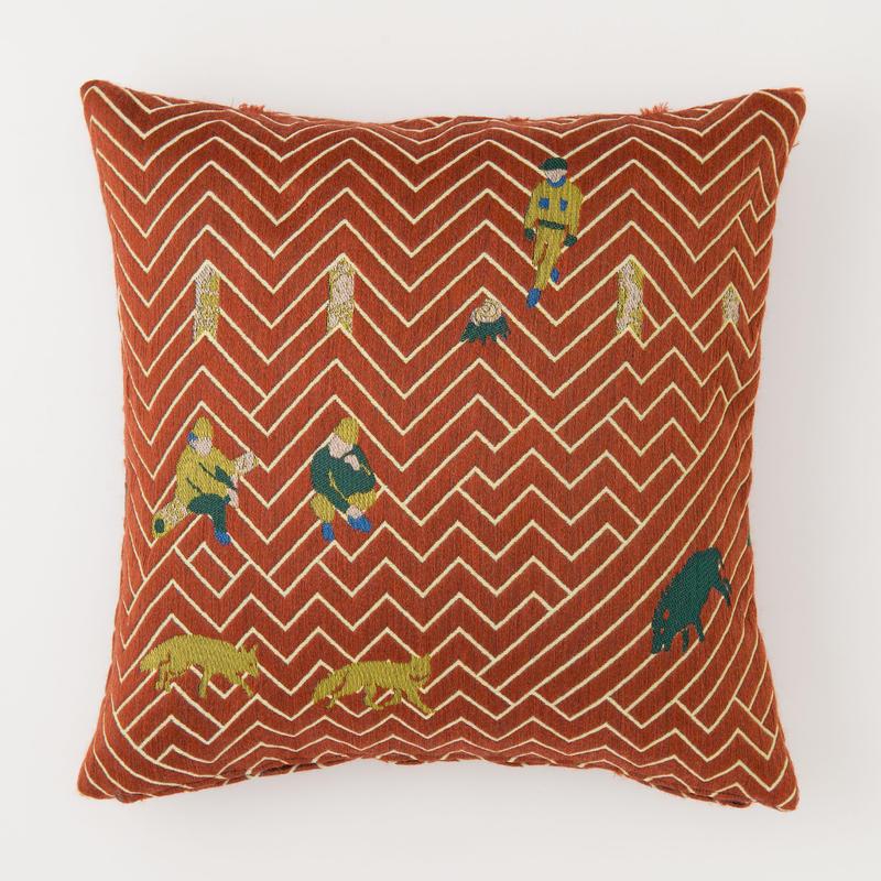 snip snap SATOYAMA cushion cover   fox red
