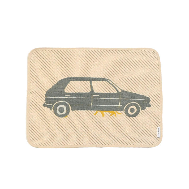 hide and seek CAT place mat | two cats