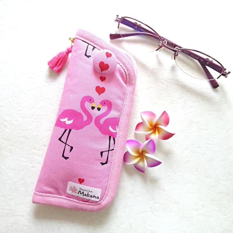 メガネケース(ピンク フラミンゴ)