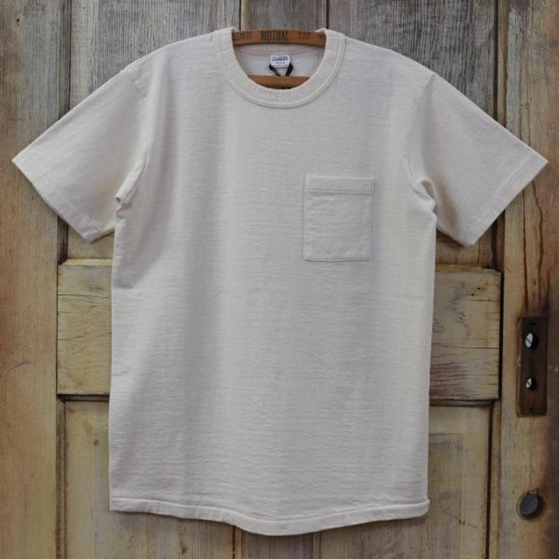 リサイクルコットン吊天竺ポケットTシャツ - ナチュラル(生成り)