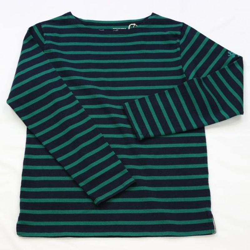 テンジクヤ ボーダー Tシャツ  ネイビー X グリーン