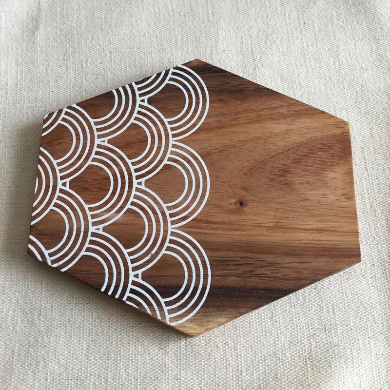 木製コースター Circles.