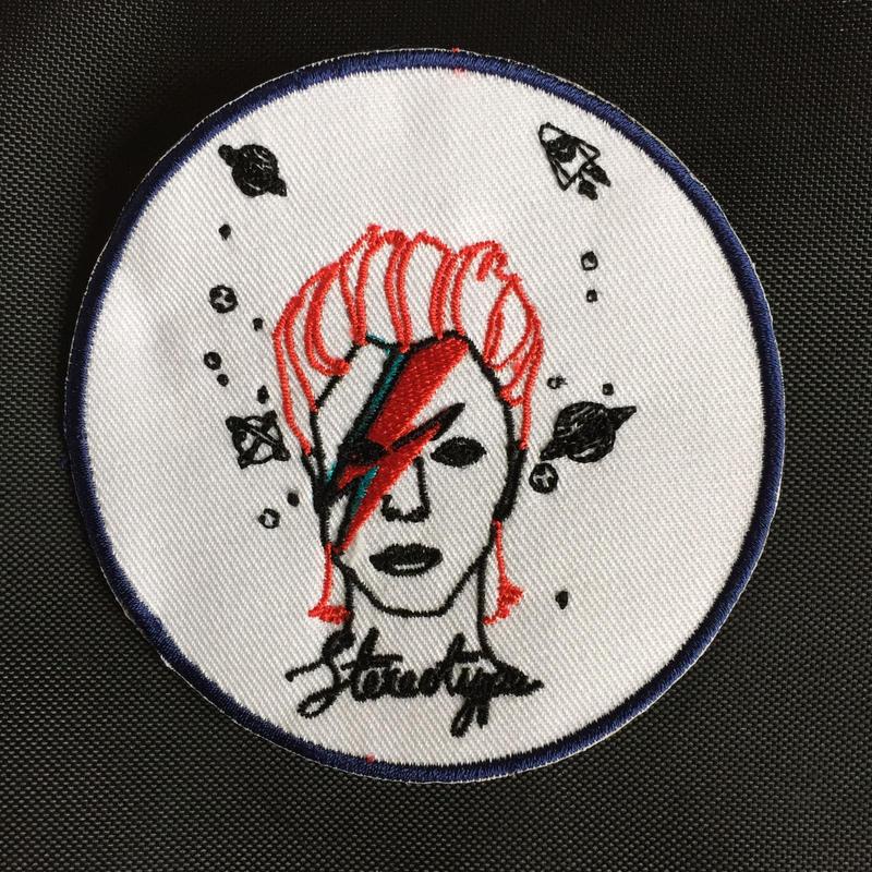 ワッペン デヴィッド・ボウイ Devid Bowie.