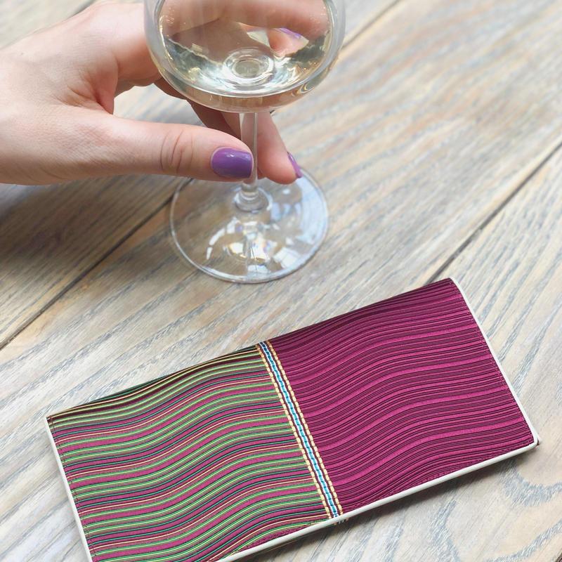 波筬(なみおさ)長財布『上』 【316-4 紫】